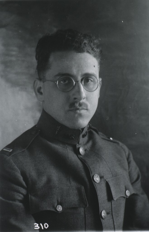 <p>Head and shoulders, front pose; in uniform of Capt., M.C.</p>