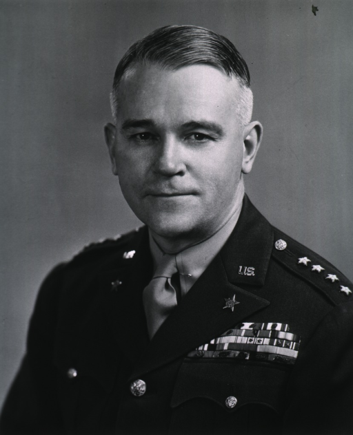 <p>Head and shoulders, full face, wearing uniform (General, Air Force).</p>