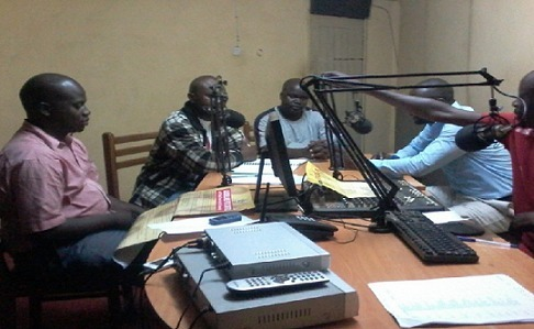 During the radio talk show at a Radio station in Tororo