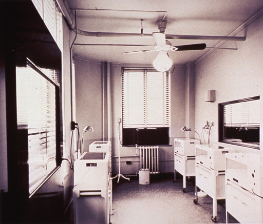 <p>Infant care in an &quot;air-conditioned premature nursery unit&quot; at New York Hospital, ca. 1939.</p>