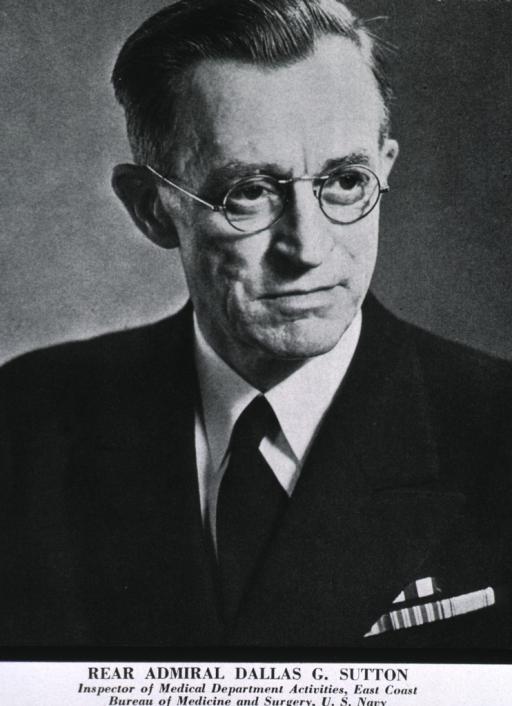 <p>Head and shoulders, full face, right pose, uniform (Rear Admiral).</p>