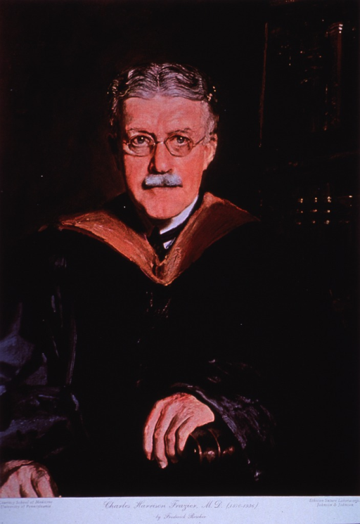 <p>Half-length, seated, wearing academic gown, arms resting on chair.</p>