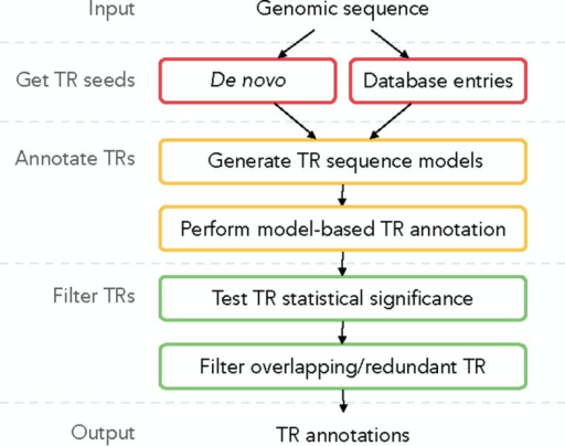 Overview of a generic TR annotation workflow.
