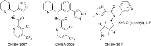 Chemical structure of Glycine transporter-1 inhibitors used in this study.