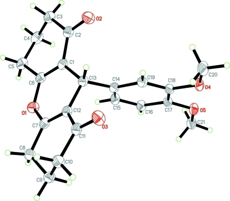 The molecular structure of the title compound, with atom labels and 50% probability ellipsoids for non-H atoms.