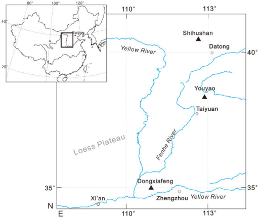 Map showing the location of key sites where sheep bone was analysed for this paper.Figure 1 was designed, composed and prepared by XZ using Correl Draw software.