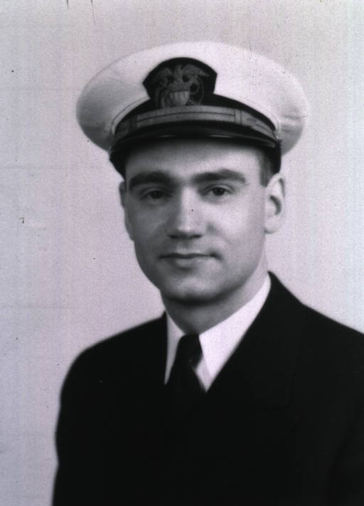 <p>Half-length, full face, wearing USPHS uniform with white cap.</p>