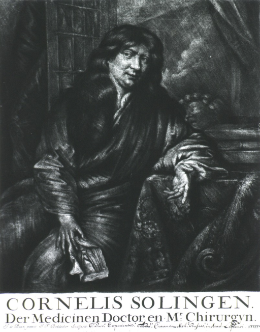 <p>Seated, three quarter length, front pose, one arm over chair.  Long curls.</p>