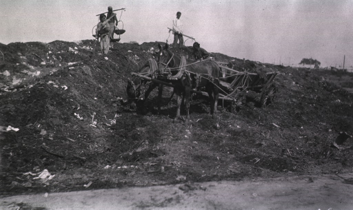 <p>A view of the trash pile for the receiving hospital.</p>
