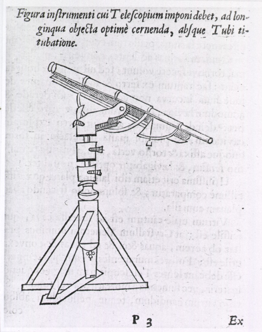 <p>Profile view of telescope on stand.</p>
