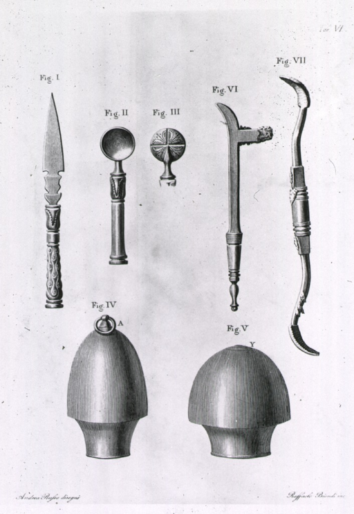 <p>Cupping bells and lancets.</p>