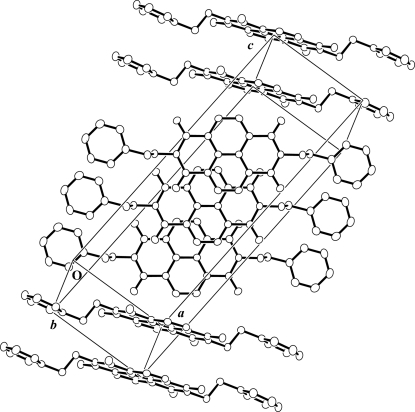 The crystal packing of PhENI. All H atoms have been omitted for clarity.