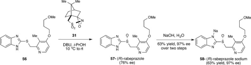 Synthesis of Rabeprazole Using Camphor-DerivedOxaziridine 31