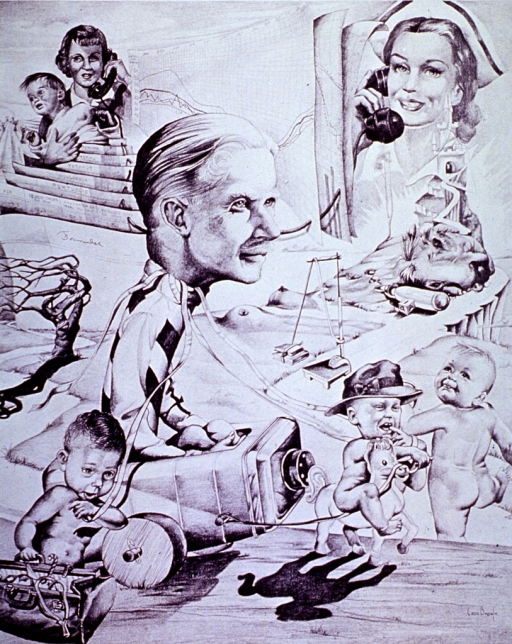 <p>Surrealistic representation of the role of the pediatrician in the health and development of a child.</p>