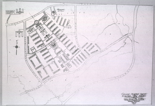 <p>Layout of the General Hospital in Colonia, New Jersey.</p>
