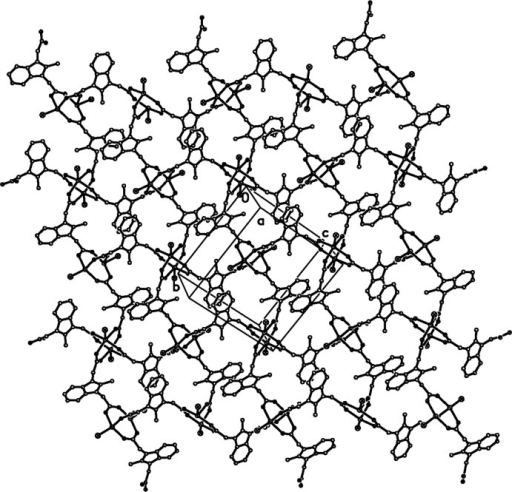 The 2-D sheet structure parallel to the (-101) plane, hydrogen atoms are omitted for clarity.