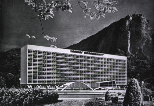 <p>The plan for the hospital uses Rio de Janeiro's Corcavado as its background.</p>