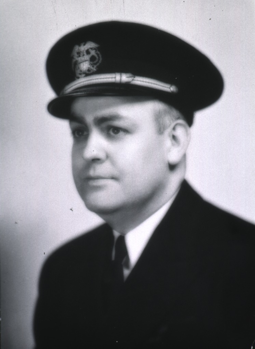 <p>Bust, full face, body to left, wearing USPHS uniform and cap.</p>
