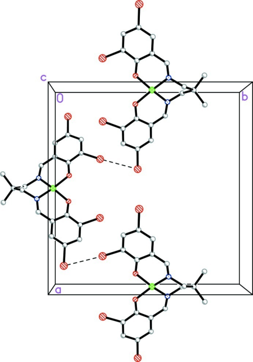 The crystal packing of the title compound viewed along the c-axis, showing how the molecules are linked via the intermolecular Br···Br interactions (dashed lines) to form chains along the a axis [the H atoms have been omitted for clarity].
