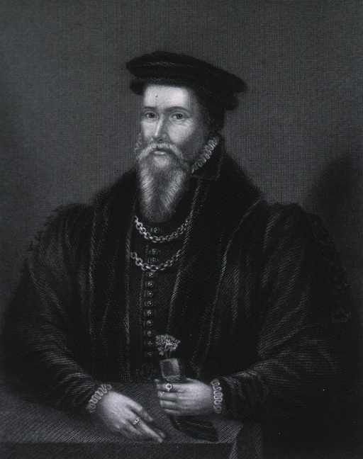 <p>Half-length, full face, showing hands, wearing robe and cap.</p>