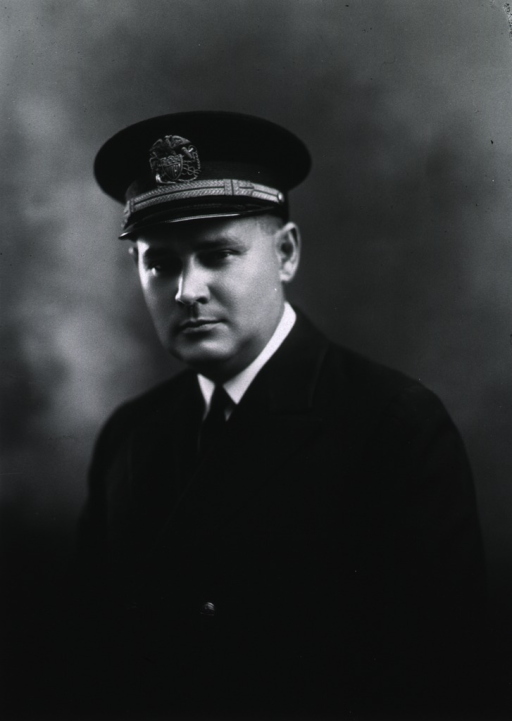 <p>Half-length, full face, boky to left, wearing cap with USPHS insignia.</p>