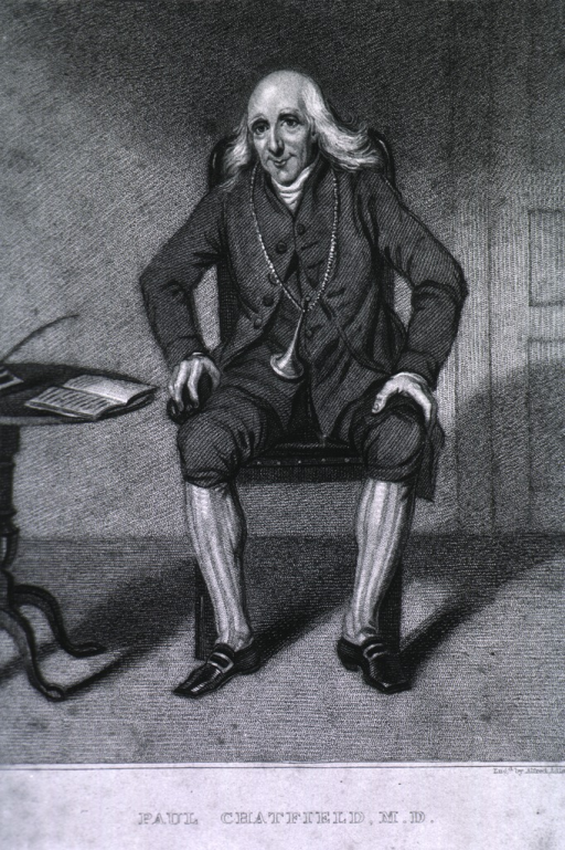 <p>Full length, seated, hands on knee.</p>