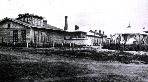 <p>A view of the operating house at Military Hospital No. 2.</p>