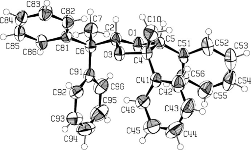 The mol­ecular structure of the title compound, (2), with atom labeling. Displacement ellipsoids are drawn at the 50% probability level. One of the H atoms on the methyl group C10 was omitted for clarity.