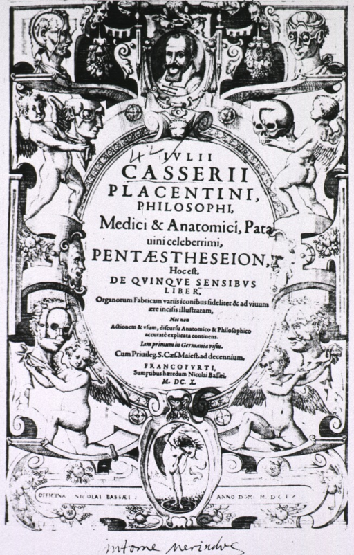 <p>Title page text with numerous vignettes of illustrations from the book.</p>
