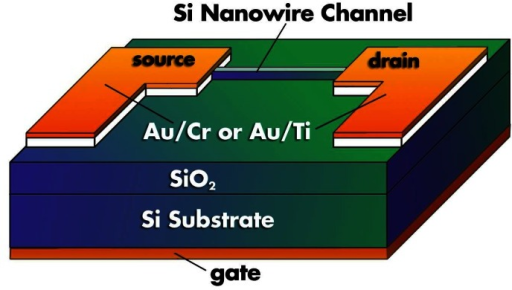 schematic diagram of a silicon nanowire fet 84 the f open i schematic diagram of a silicon nanowire fet 84 the field effect occurs as