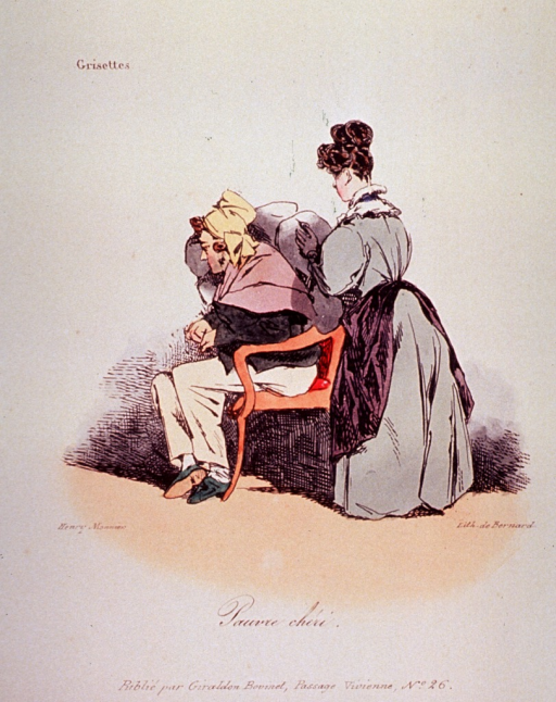 <p>A woman is placing cushions around a person sitting in a chair.</p>