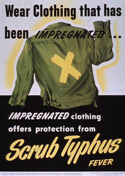 <p>Predominantly black and white poster with multicolor lettering.  Initial title phrase at top of poster.  Visual image is an illustration of a jacket, shown from the rear, marked with a large yellow &quot;x.&quot;  Remaining title words below illustration.  Publisher information at bottom of poster.</p>