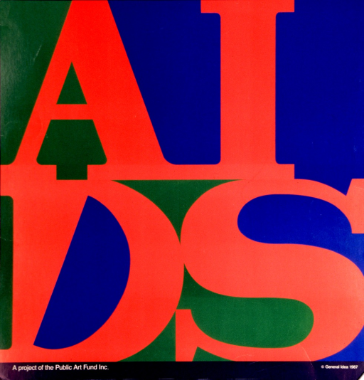 <p>Multicolor poster.  Title presented in large block letters, one in each quarter of the poster.  The arrangement is suggestive of Robert Indiana's famous &quot;LOVE&quot; stamp.  Publisher information at bottom of poster.</p>
