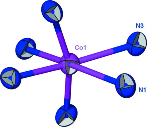 Octahedral coordination geometry of CoIII.