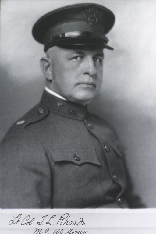 <p>Head and shoulders, right profile; in uniform, Lt.-Col., M.C.</p>