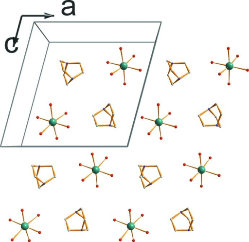A cationic layer in the (ac) plane, showing the alteration of organic and inorganic cations.