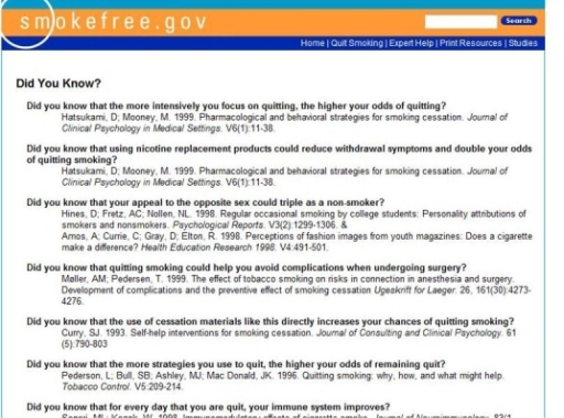 "Screenshot (b) of the ""Did You Know?"" messages"