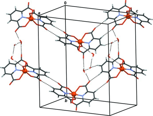 The role of water clusters in connection of 1-D chains.