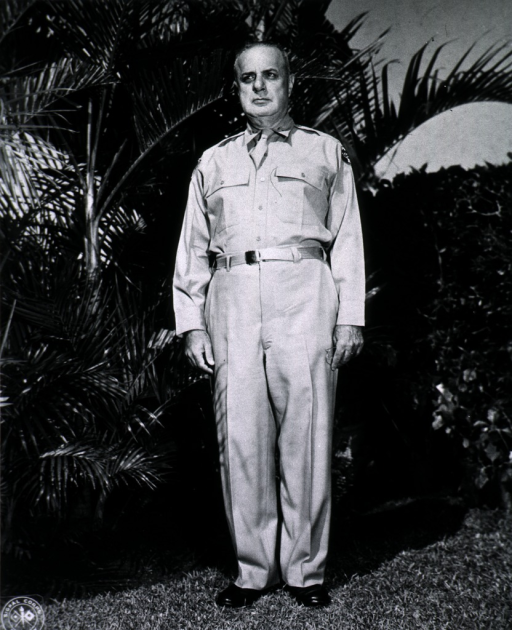 <p>Full length, standing, front pose, wearing uniform (Colonel).</p>