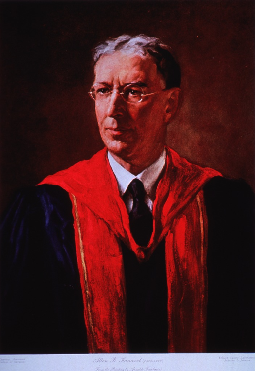 <p>Half-length, full face; wearing academic robes.</p>