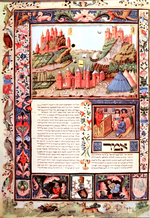 <p>Two miniatures; the upper miniature is an allegorical representation of a war between two cities; the lower miniature shows a doctor - in the costume characteristic of the 15th c. - giving a lesson to his disciples.</p>