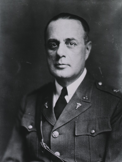 <p>Head and shoulders, full face, wearing uniform (Major).</p>