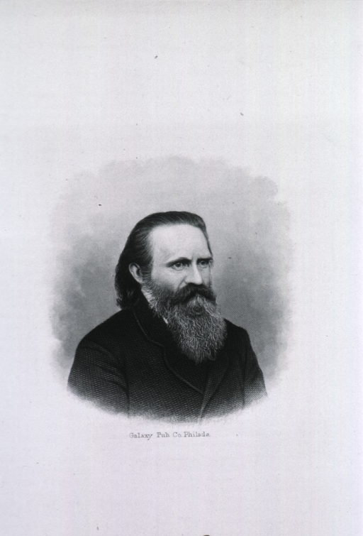<p>Head and shoulders, right pose; long beard.</p>
