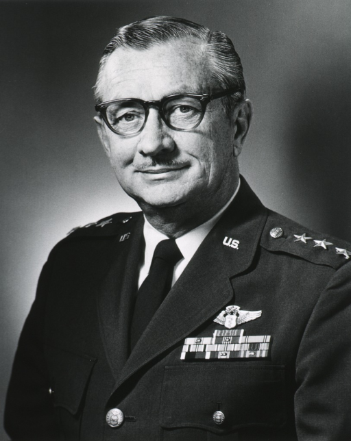 <p>Head and shoulders, full face; wearing glasses; wearing uniform of Lt. Gen., USAF, MC.</p>