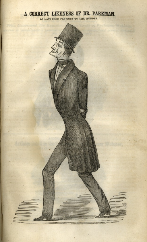 <p>Image of Dr. Parkman from a page of a pamphlet.</p>