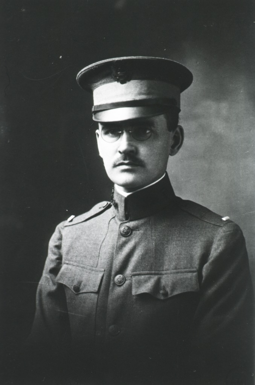 <p>Head and shoulders, front pose.  In uniform of Lieut. with cap.</p>