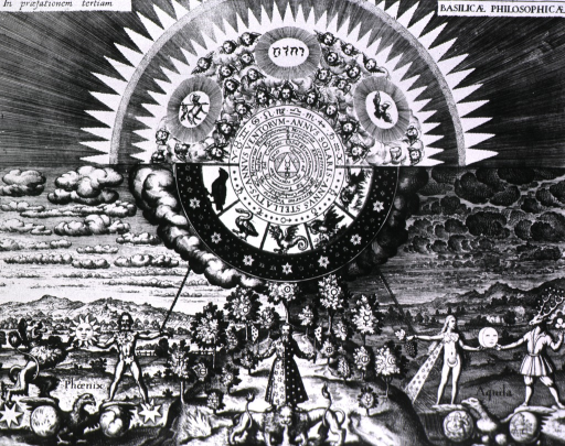 <p>Allegory of the microcosm and the macrocosm.</p>