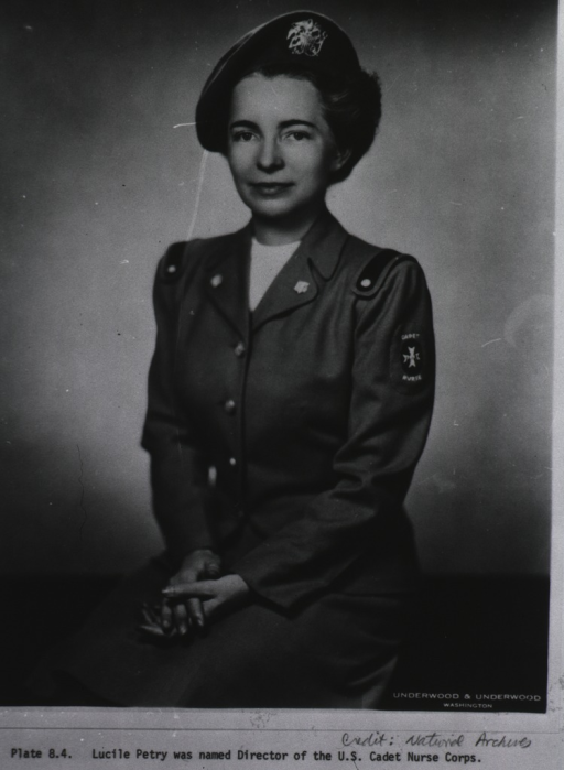 <p>Seated, three-quarter length, left pose, full face; wearing uniform.</p>