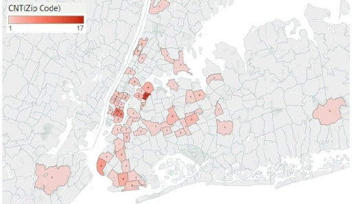 Heat Map Of Location Of Hookah Bars In New York City By Open I