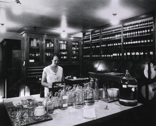 <p>Pharmacy interior view.</p>